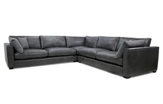Keaton: Leather Large Corner Sofa