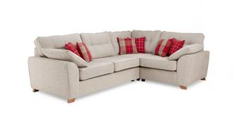 Keeper Left Hand Facing Arm 3 Seater Deluxe Corner Sofa Bed