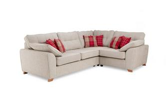 Left Hand Facing Arm 3 Seater Deluxe Corner Sofa Bed Keeper