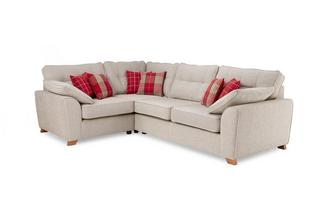 Right Hand Facing Arm 3 Seater Deluxe Corner Sofa Bed Keeper