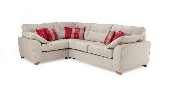 Keeper Right Hand Facing Arm 3 Seater Deluxe Corner Sofa Bed