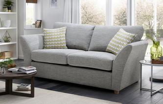 Keira Large 2 Seater Formal Back Sofa Bed Keira