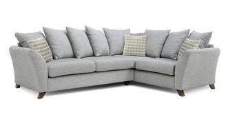 Keira Left Hand Facing 3 Seater Pillow Back Corner Sofa