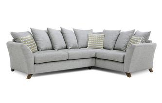 Left Hand Facing 3 Seater Pillow Back Corner Sofa Keira