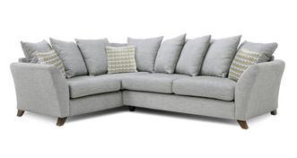 Keira Right Hand Facing 3 Seater Pillow Back Corner Sofa