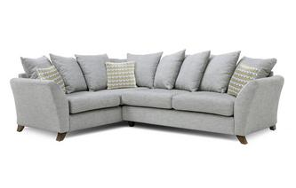 Right Hand Facing 3 Seater Pillow Back Corner Sofa Keira