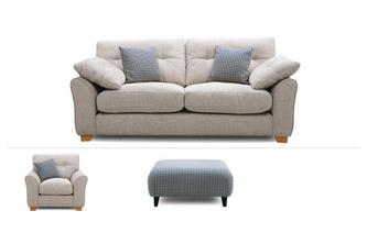 3 Seater Sofa, Chair & Stool