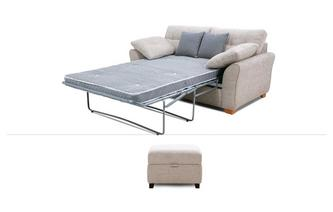 2 Seater Deluxe Sofa Bed & Stool