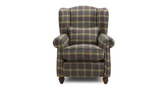 Kendal Plaid gevleugelde fauteuil
