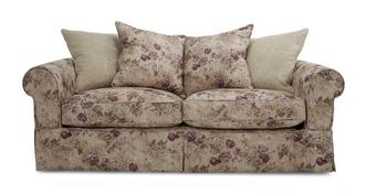 Kendal Floral and Pattern Pillow Back Large Sofa