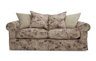 Floral and Pattern Pillow Back Large Sofa