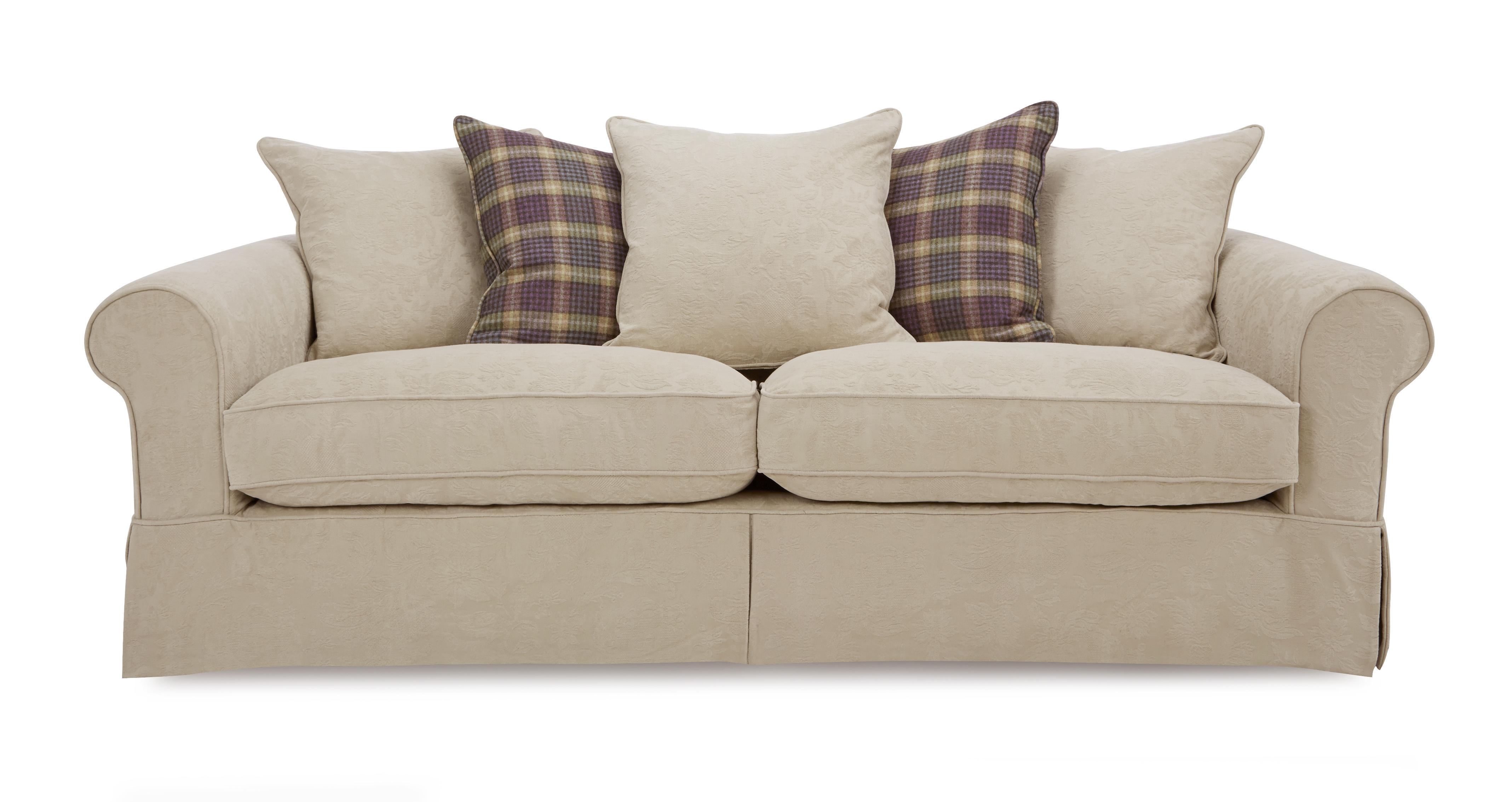 Kendal Pattern and Plaid Pillow Back Grand Sofa Kendal Pattern