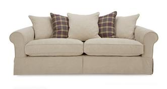 Kendal Pattern and Plaid Pillow Back Grand Sofa