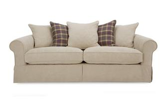 Pattern and Plaid Pillow Back Grand Sofa