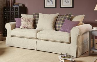 Kendal Pattern and Plaid Pillow Back Grand Sofa Kendal Pattern