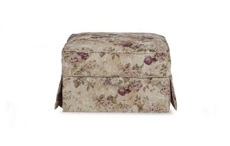 Floral Loose Cover Storage Footstool