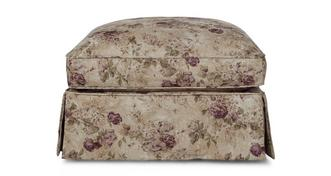 Kendal Large Loose Cover Floral and Pattern Footstool
