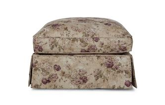 Large Loose Cover Floral and Pattern Footstool Kendal Floral