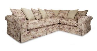Kendal Left Hand Facing Floral and Pattern Pillow Back 3 Seater Corner Group
