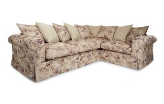 Left Hand Facing Floral and Pattern Pillow Back 3 Seater Corner Group