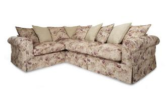 Right Hand Facing Floral and Pattern Pillow Back 3 Seater Corner Group Kendal Floral