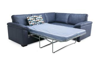 Left Hand Facing 2 Seater Deluxe Corner Sofa Bed Condor