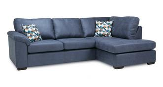 Kenzy Left Hand Facing Arm Open End Deluxe Corner Sofa Bed