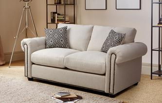 Kielder Alternative Fabric 2 Seater Formal Back Deluxe Sofa Bed Oakland Alternative