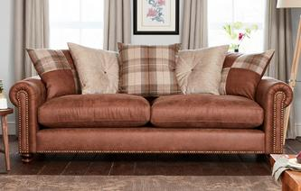 Kielder 4 Seater Pillow Back Sofa Oakland