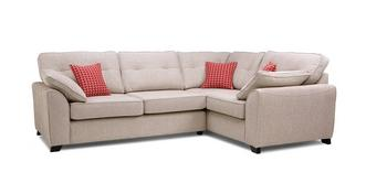 Kirkby Left Hand Facing 3 Seater Deluxe Corner Sofa Bed