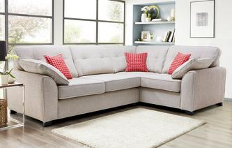 Kirkby Left Hand Facing 3 Seater Deluxe Corner Sofa Bed KIrkby Plain