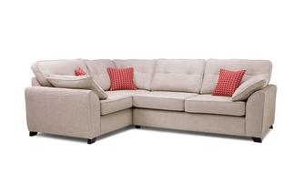 Right Hand Facing 3 Seater Deluxe Corner Sofa Bed KIrkby Plain