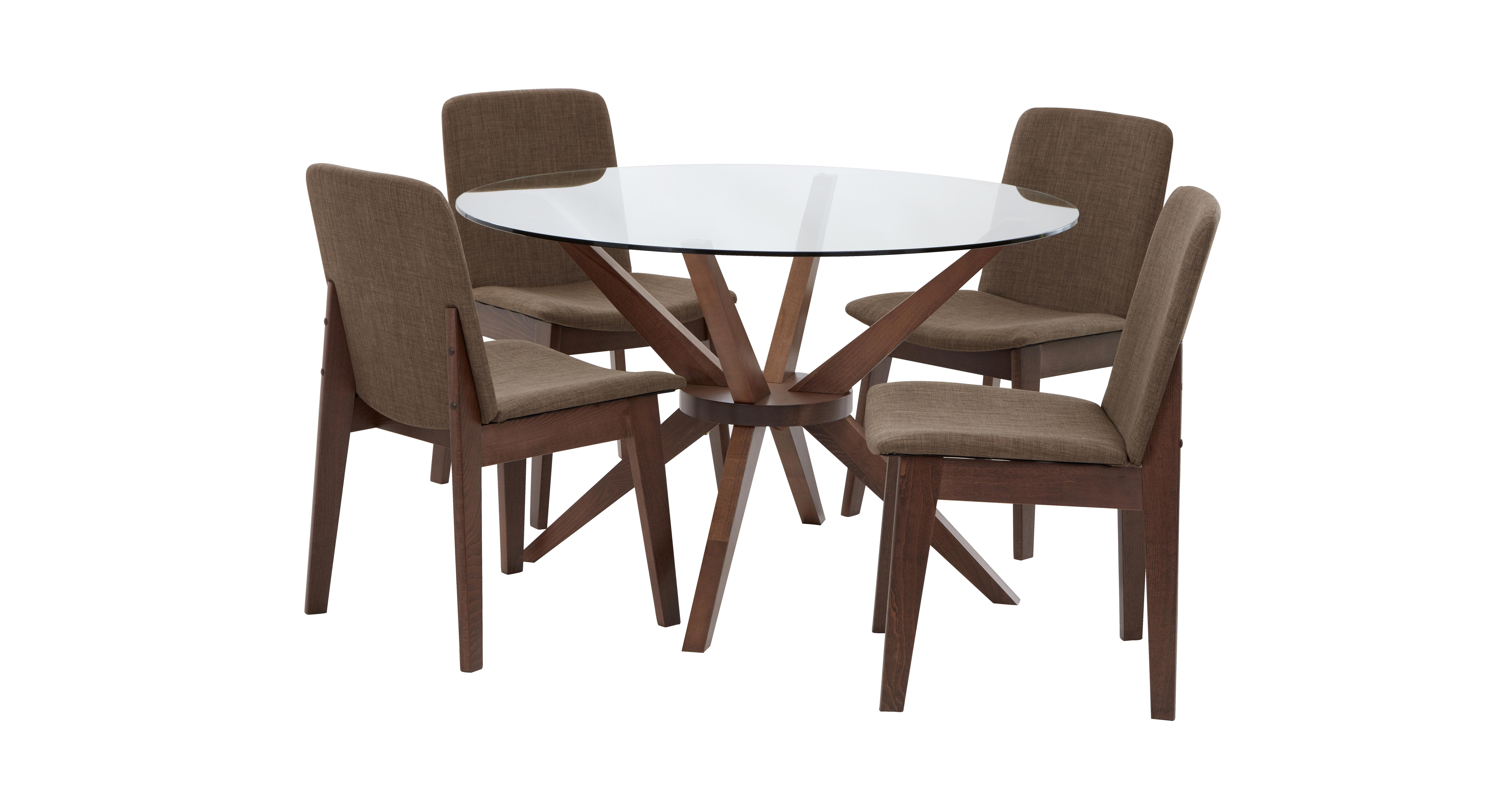Kitsch Round Glass Table Set Of 4 Chairs Dfs