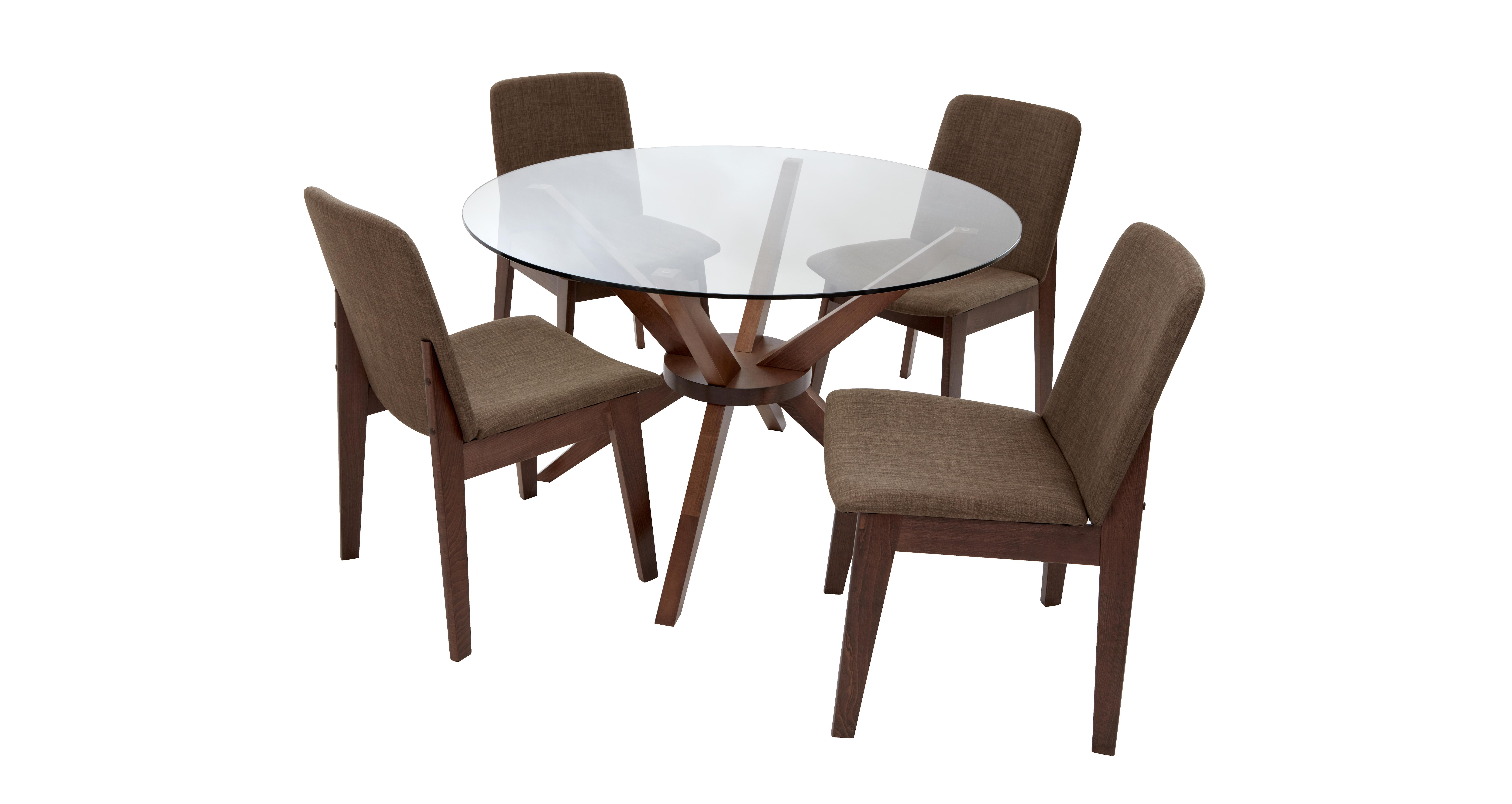 Kitsch Round Glass Table Amp Set Of 4 Chairs Dfs
