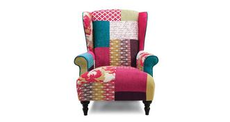 Kitty Patch Wing Chair