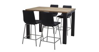 Knox Bar Table & Set of 4 Bar Stools