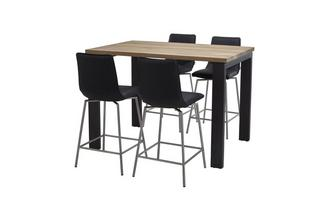 Bar Table & Set of 4 Bar Stools