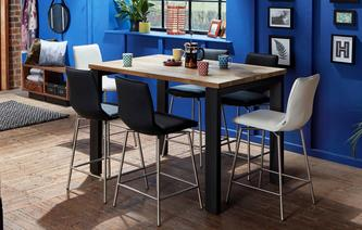 Knox Bar Table & Set of 4 Bar Stools Knox