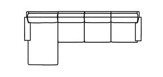 Kreta LHF Chaise 3.5 Seater Sofa