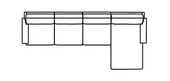 Kreta RHF Chaise 3.5 Seater Sofa