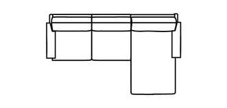 Kreta RHF Chaise 2.5 Seater Sofa
