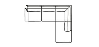 Kreta LHF Arm 3 Seater Open End Corner