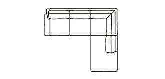 Kreta LHF Arm 2.5 Seater Open End Corner