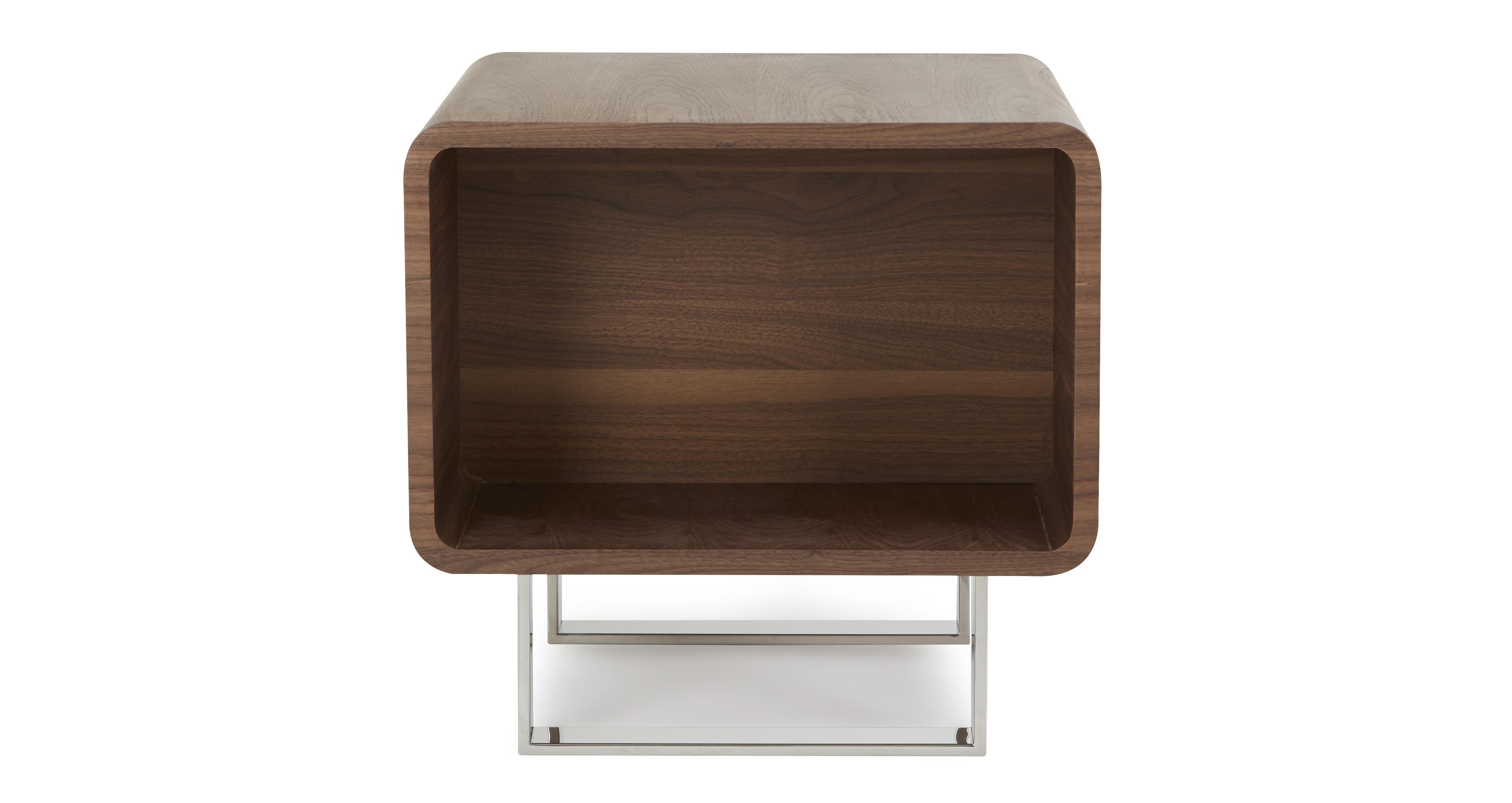 Kubix lamp table kubix walnut dfs for Lamp table dfs
