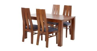 Kyoto Extending Dining Table & Set of 4 Chairs