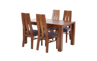 Extending Dining Table & Set of 4 Chairs Kyoto