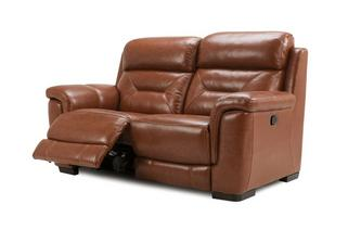 Lancer 2 Seater Manual Recliner Brazil with Leather Look Fabric