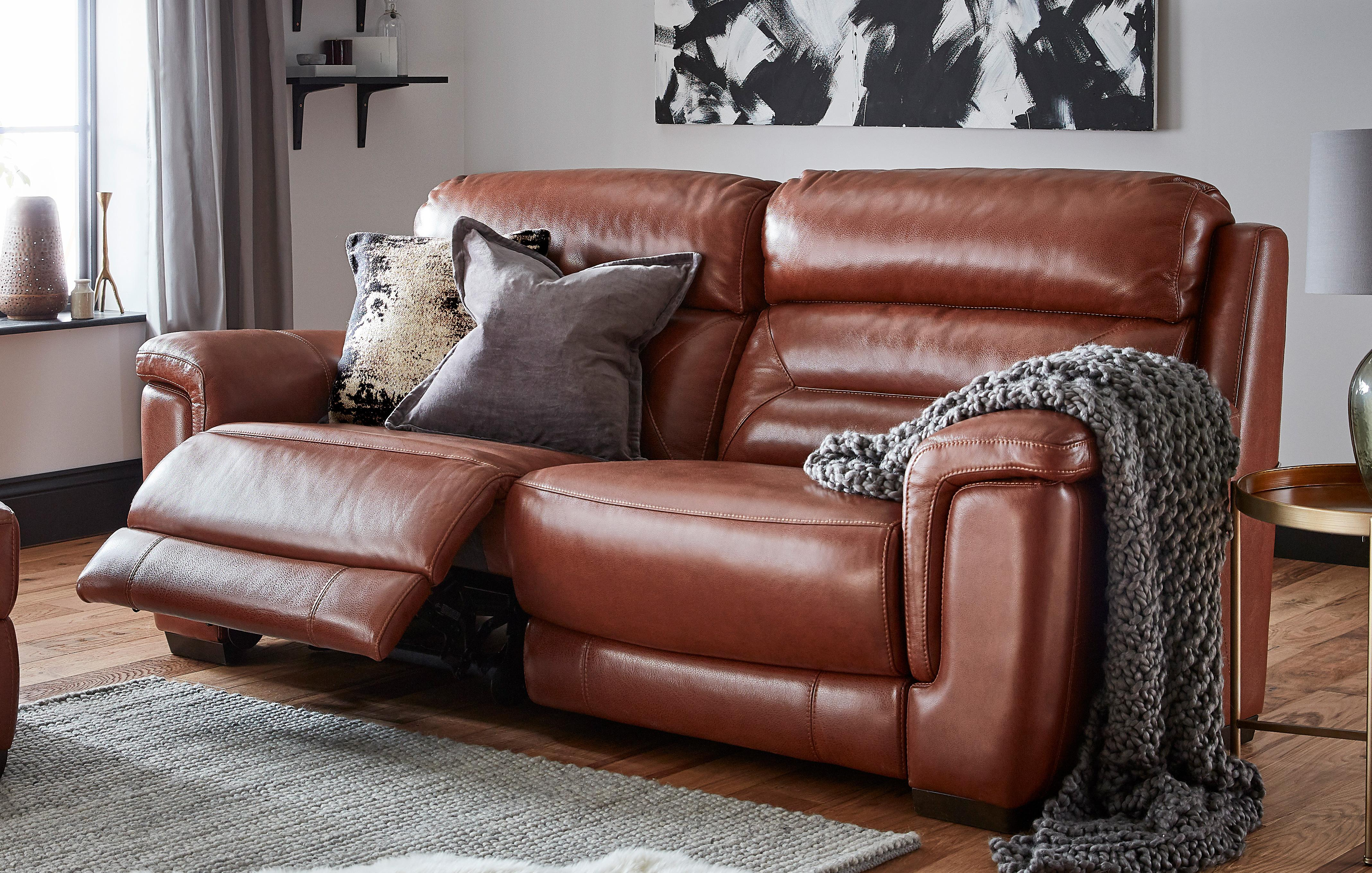 Dfs 2 Seater Leather Recliner Sofa | Baci Living Room