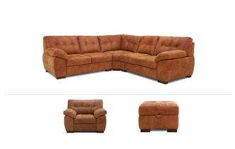 Lanciano Clearance Corner Sofa, Chair & Stool Grand Outback