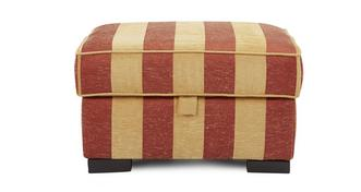 Landseer Stripe Storage Footstool